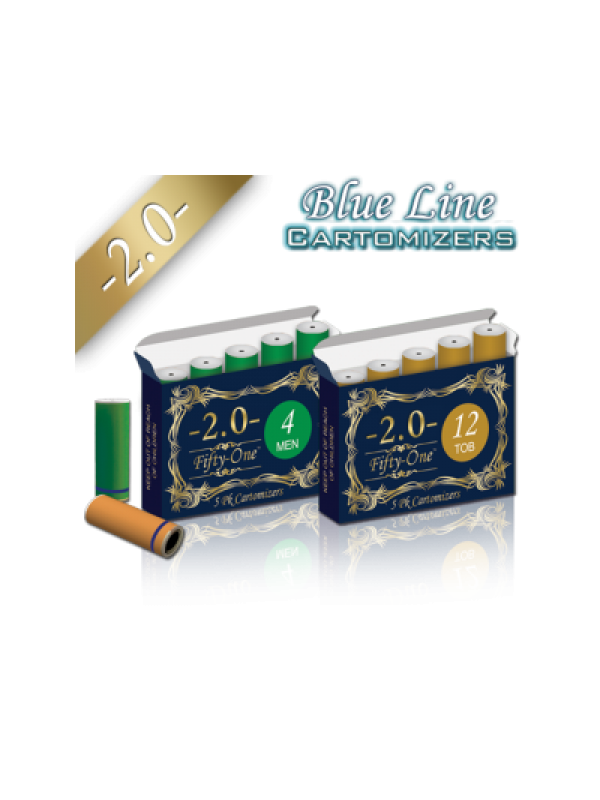 Smoke51 Blue Line Cartomizers 5 Pack