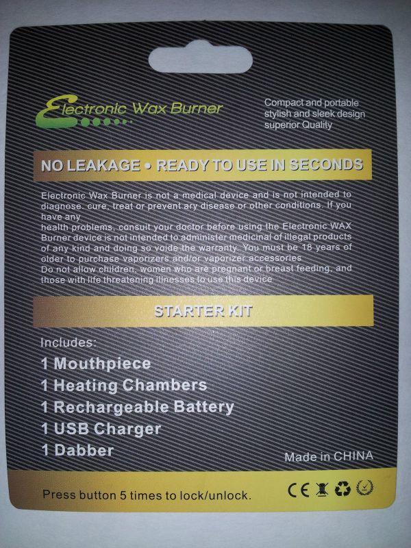 Wax & Oil Ultra Slim Burner