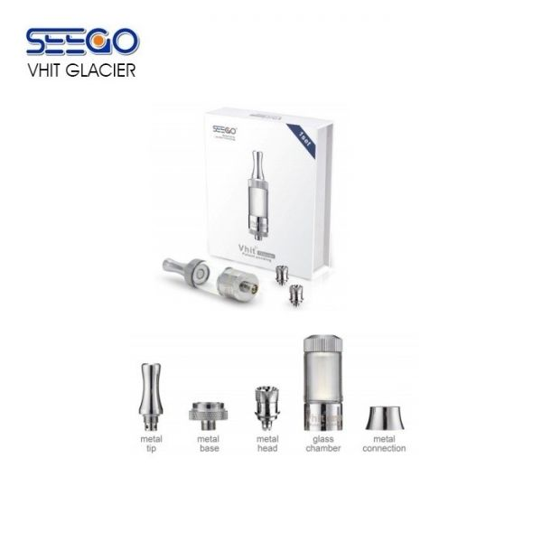 SEEGO Glacier VHit Glassomizer for Thick Oil & Wax